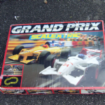 scalextric grand prix nice old retro boxed set cars never ran used @sold@